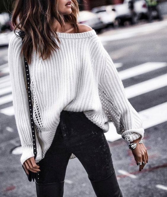 silver cuff bracelet outfit black jeans