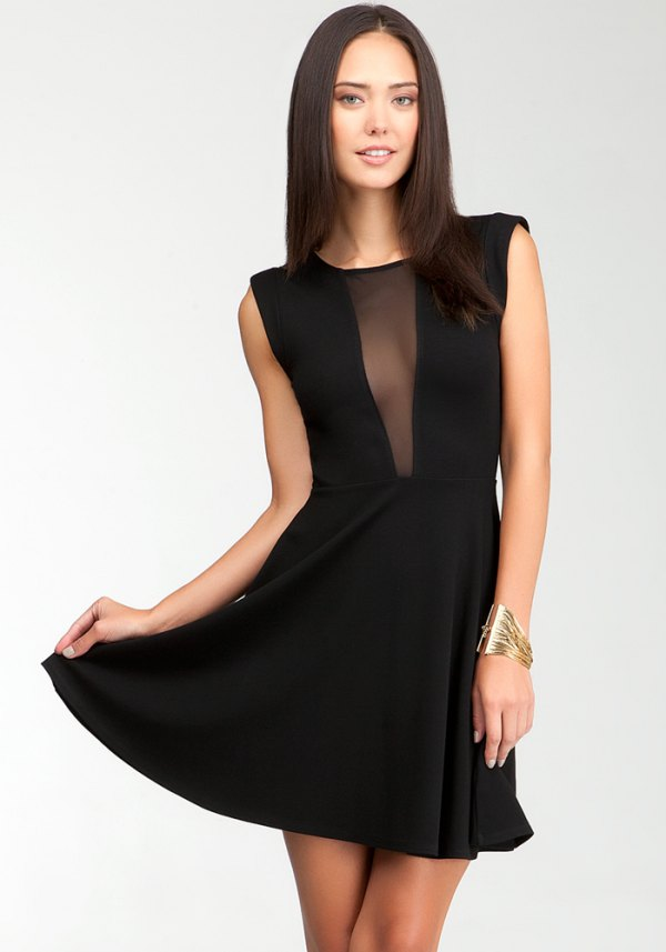 best black sheer dress outfits