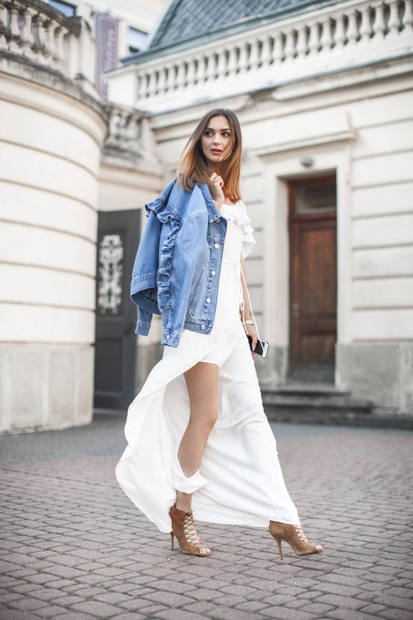 How to wear a white maxi dress