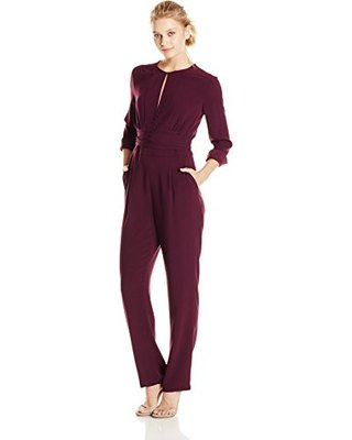 black jumpsuit small open chest cutting