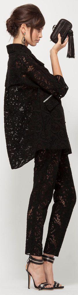 black lace pants pantsuit
