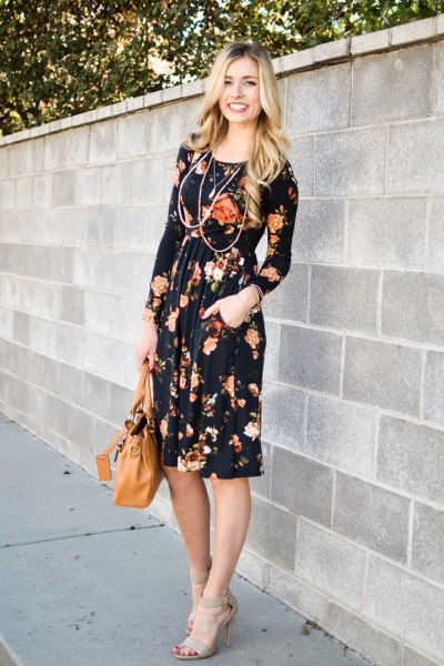 How to Style Black Floral Dress: 14 Top