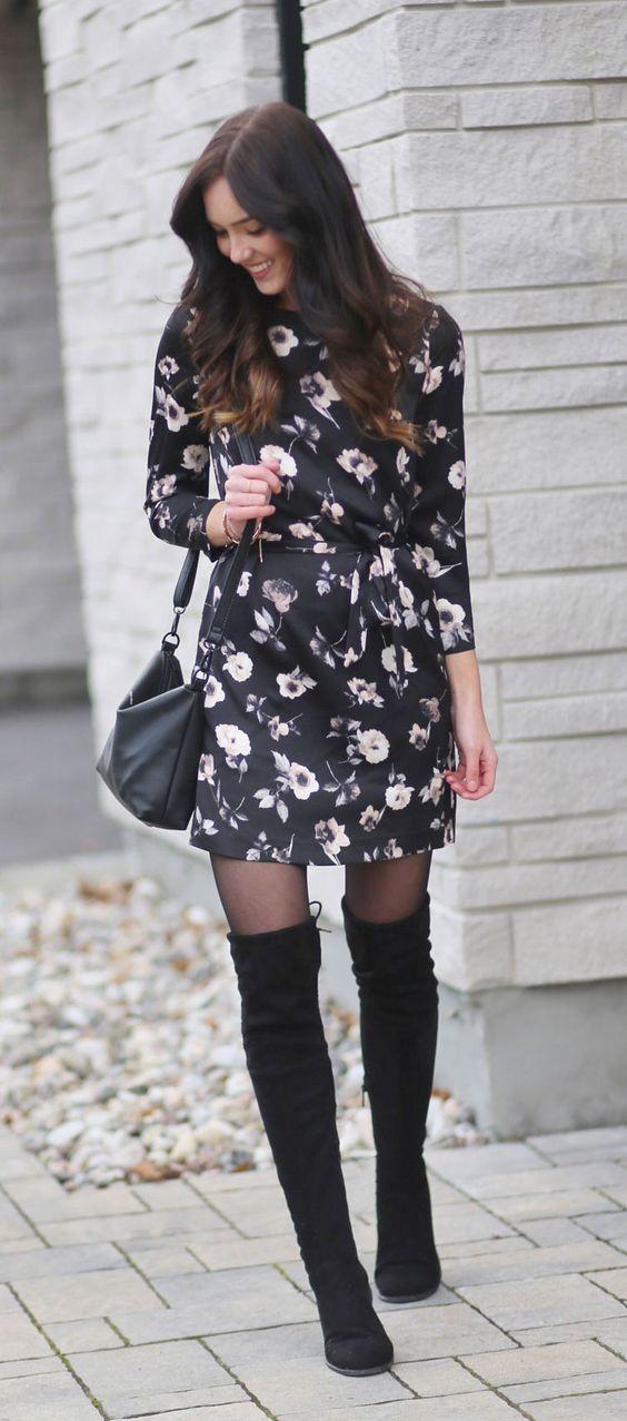 black satin dress floral
