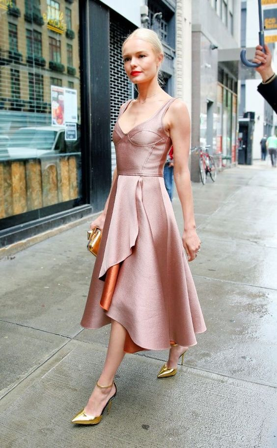 blush pink dress ladylike