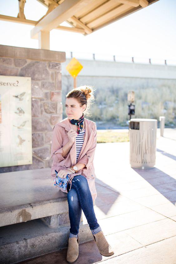 floral clutch bag duster jacket
