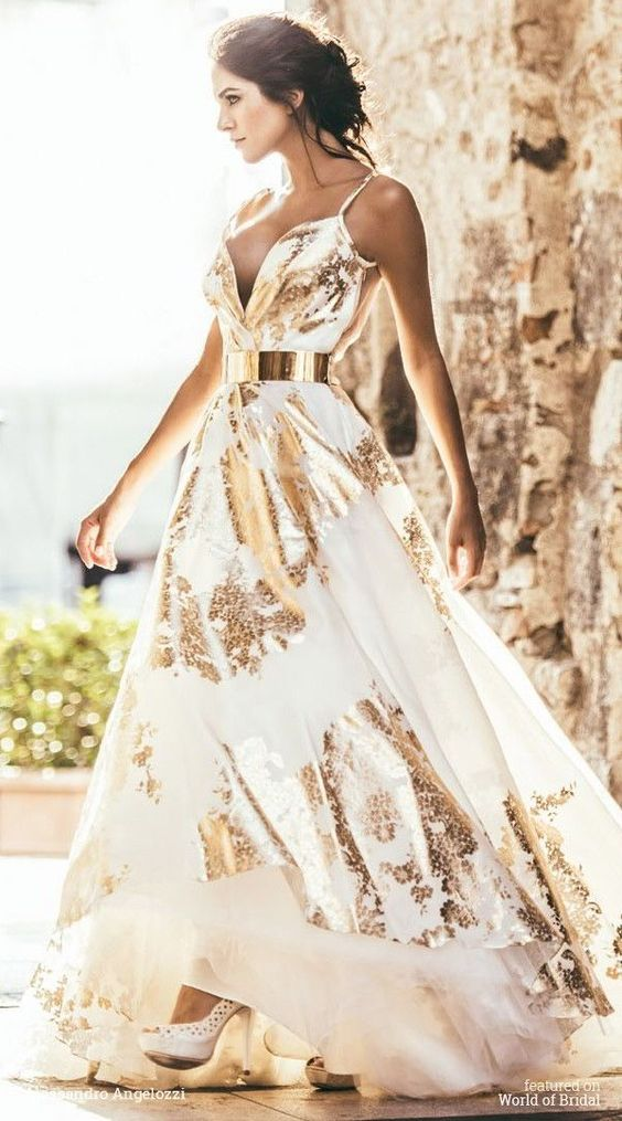 gold sparkly dress floral