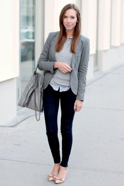 ec37da80e7 How to Wear Grey Blazer for Women  15 Amazing Ideas - FMag.com