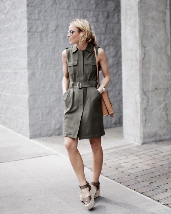 olive green dress military