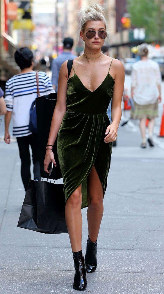 olive green dress velvet
