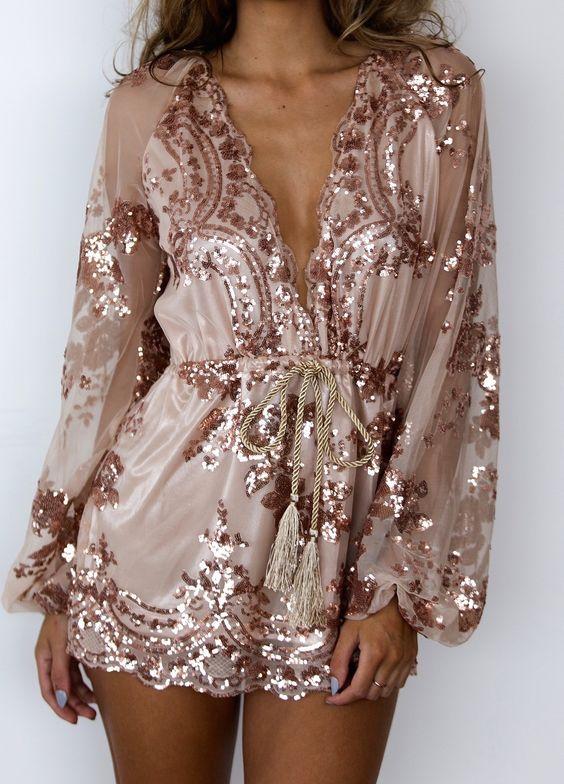 pink gold dress cable waist