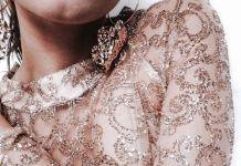pink gold dress earrings