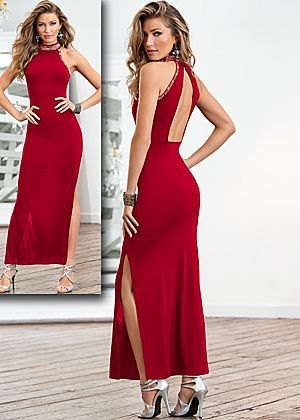red satin backless maxi dress silver strappy heels