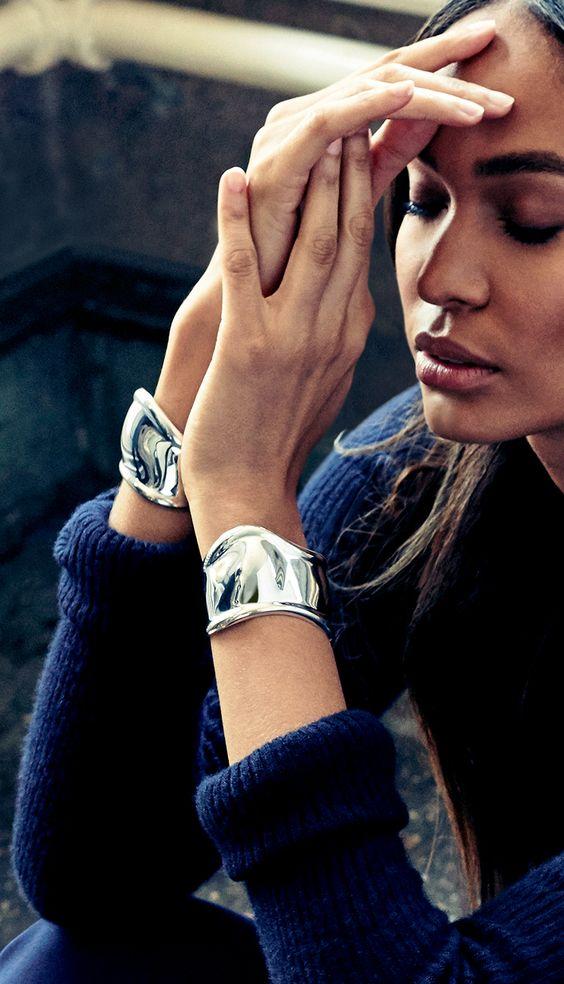 silver cuff bracelet asymmetric