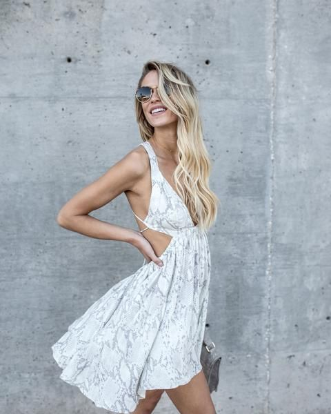 white cut out dress snakeskin
