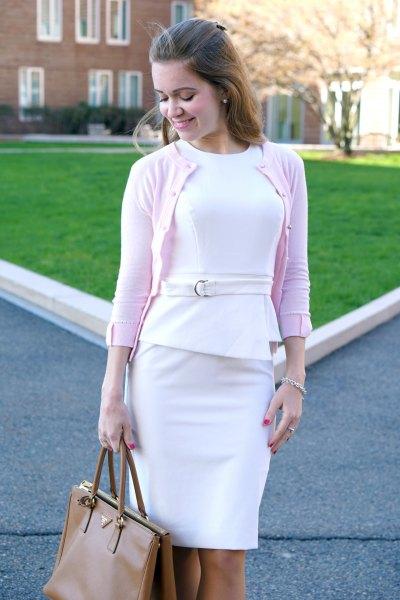 cb2a2210b0d 14 Best Outfit Ideas On How To Wear White Peplum Dress Fmagcom