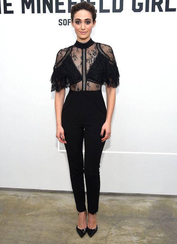 black lace jumpsuit interesting bodice