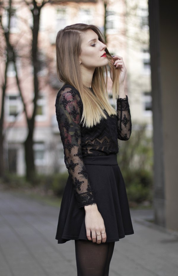 fc67bea4b08 Top 10 Outfit Ideas on How to Wear Black Lace Shirt - FMag.com