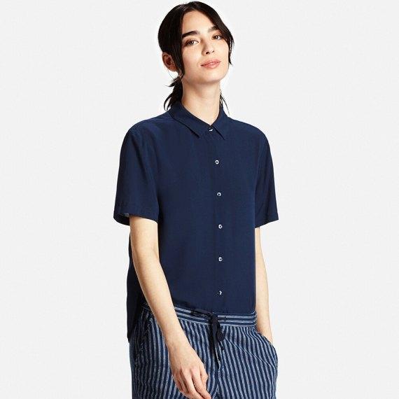 409cdf95 LE3NO Womens Polka Dots Button Down Long Sleeve Tailored Shirt