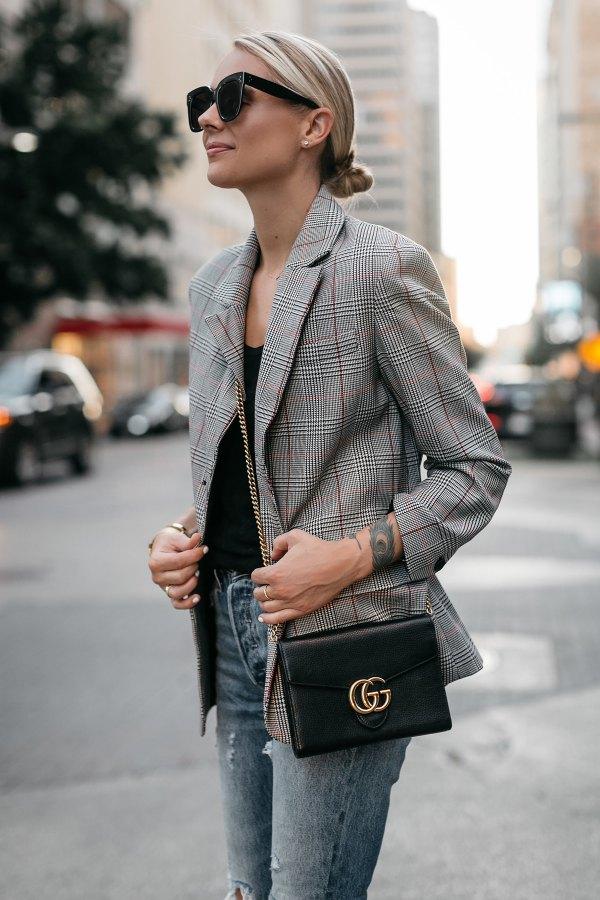 15 Stylish Plaid Jacket Outfit Ideas for Women - FMag.com