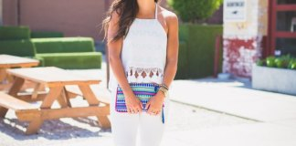 best white halter top outfit ideas