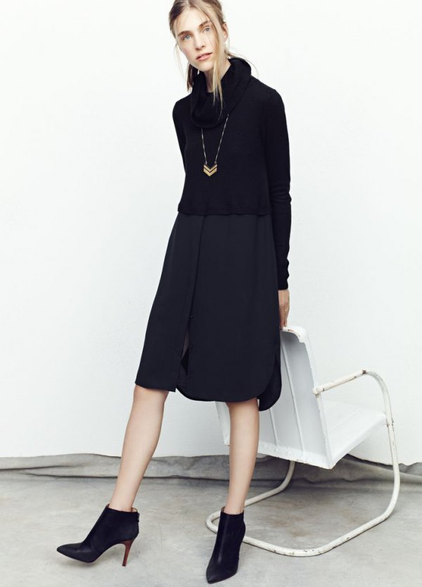 How to Style Black Turtleneck Dress in 15 Chic Ways - FMag.com