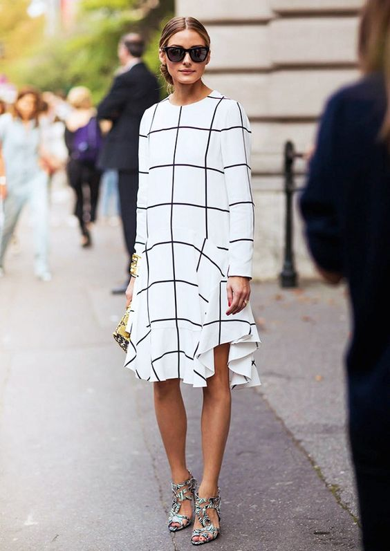 black and white striped dress olivia