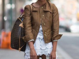 best brown leather jacket for women outfits
