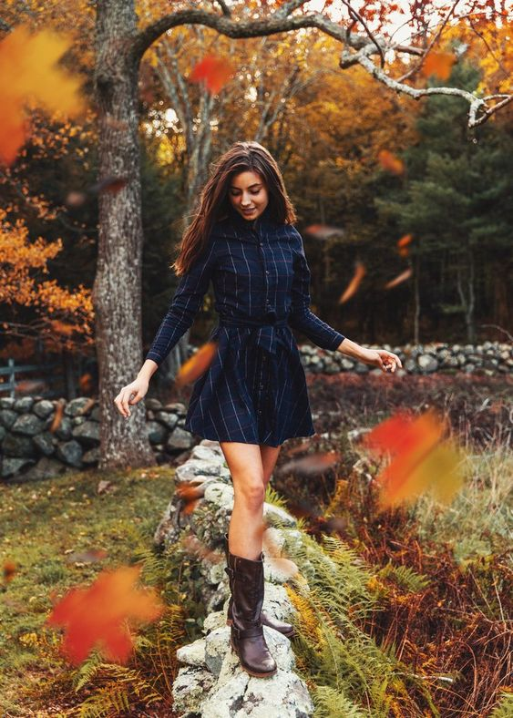 flannel dress fall colors