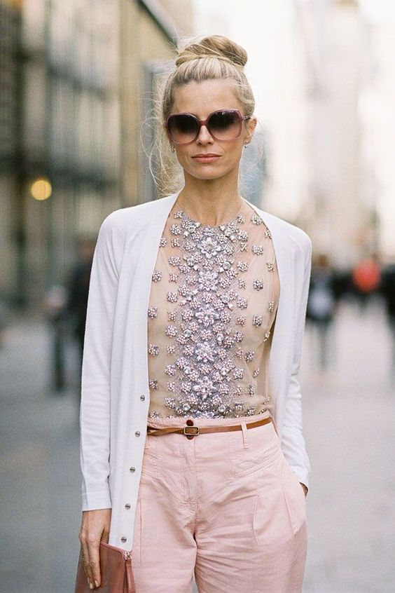 embellished top cardigan