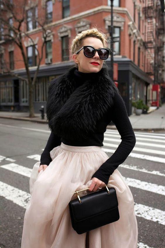 faux fur scarf ladylike