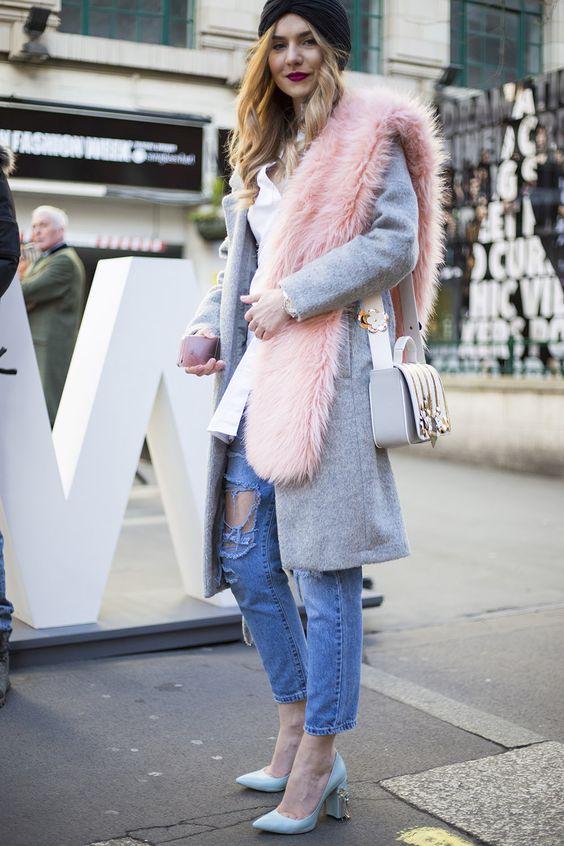 faux fur scarf pastel
