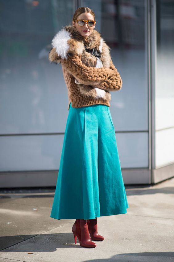 faux fur scarf teal skirt