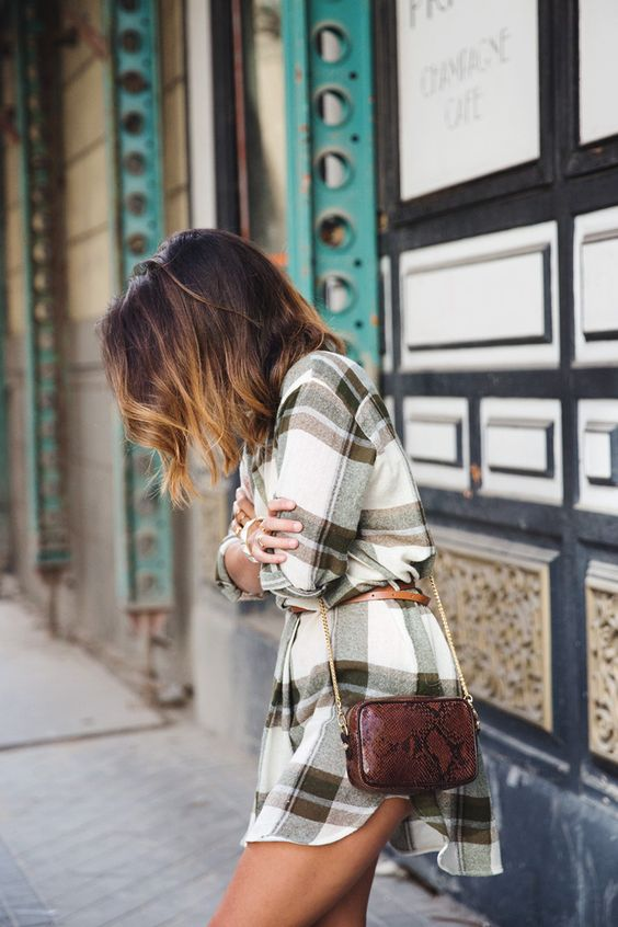 flannel dress short