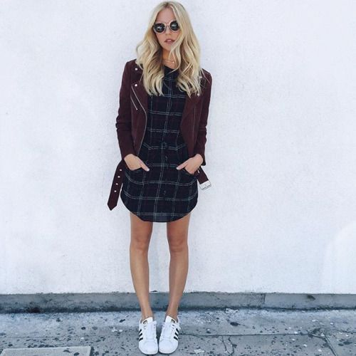 flannel dress urban girl