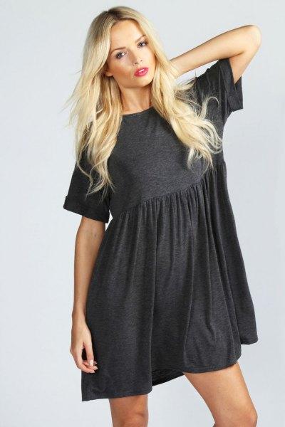 grey cotton smock dress
