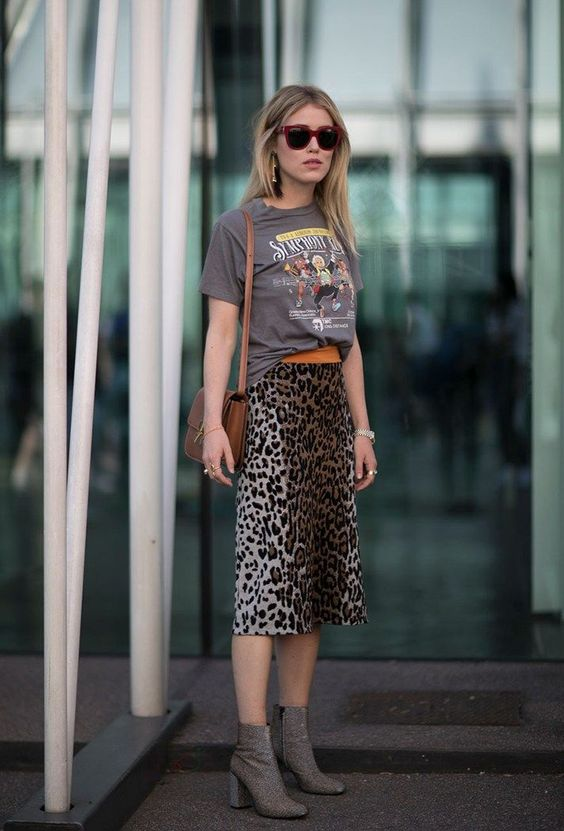 leopard print skirt mix