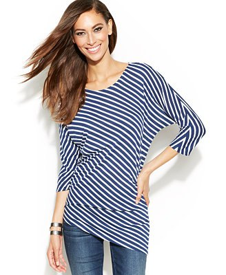 navy and white striped top skinny jeans