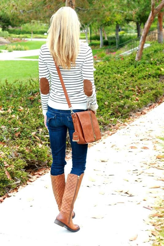 quilted boots stripes