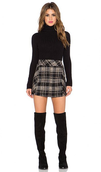 How To Style Black And White Plaid Skirt Outfit Ideas Fmag Com