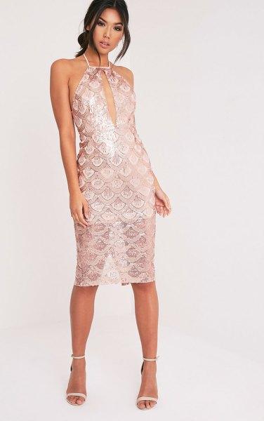 white keyhole dress semi sheer lace overlay