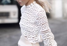 best long sleeve lace top outfit ideas