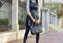 best black leather dress outfits