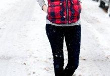 best plaid vest outfit ideas