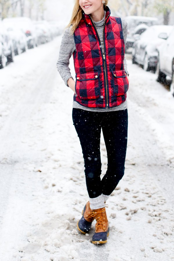 best plaid vest outfit ideas