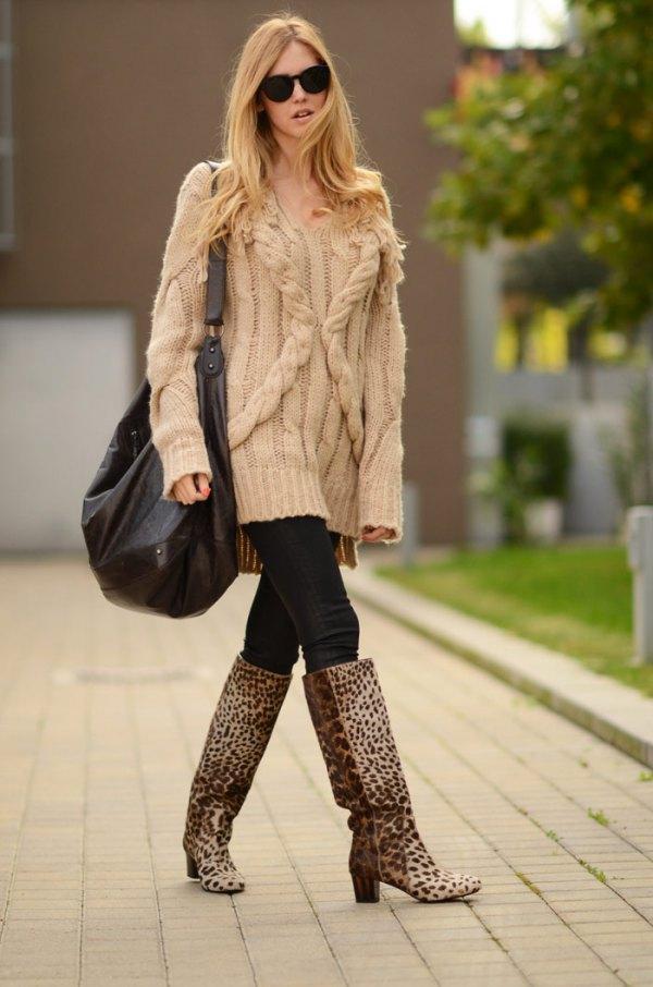 tall leopard print boots