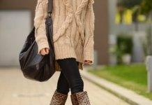 best leopard print boots outfit ideas