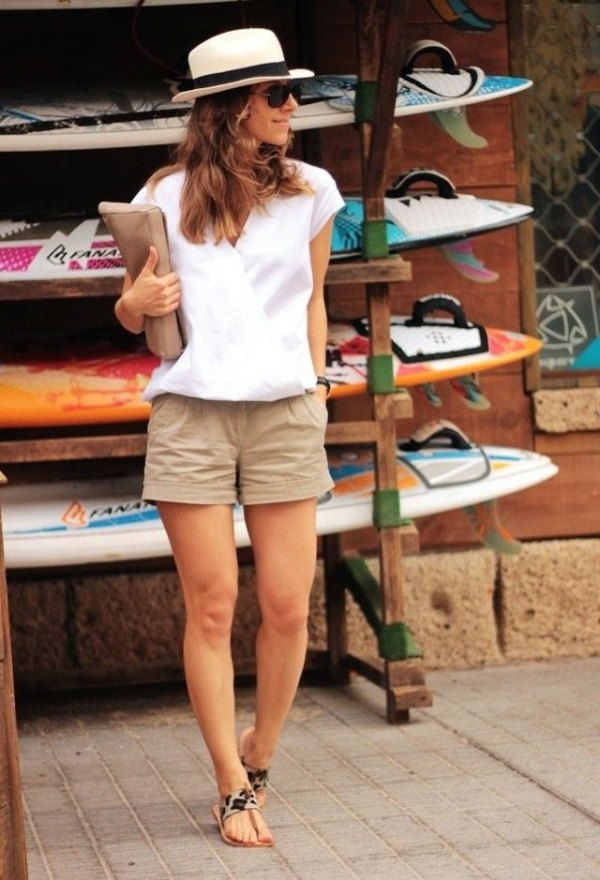 best khaki shorts outfit ideas