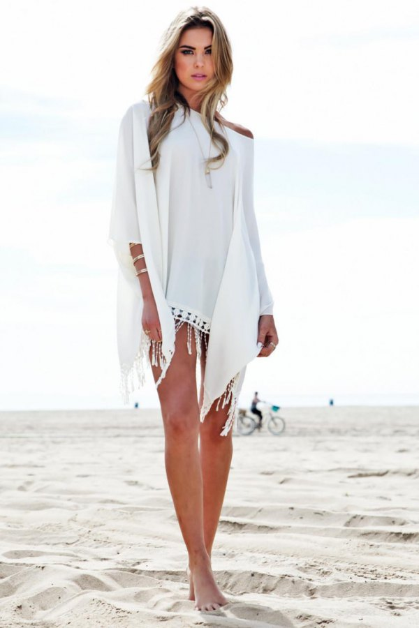 38231b444c 15 Amazing White Beach Dresses Outfit Ideas - FMag.com