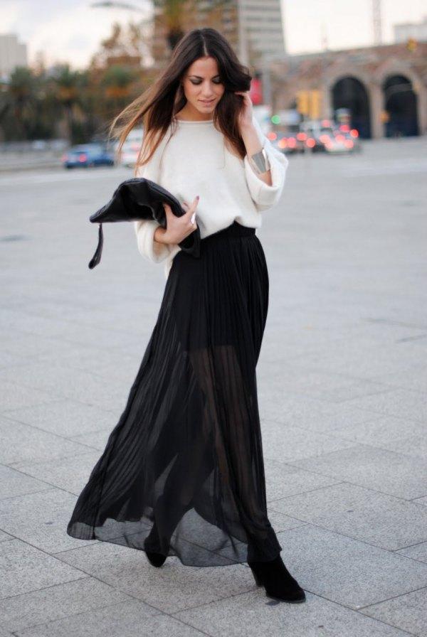 How to Wear Sheer Maxi Skirts  15 Feminine Outfit Ideas - FMag.com a0252f782