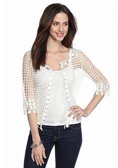 black crochet lace shrug vest top skinny jeans